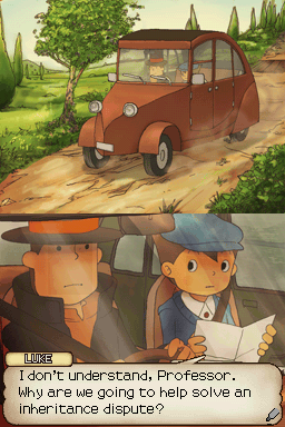 Professor Layton and the Curious Village Nintendo DS Story sequences that aren't presented via video, use subtly animated still images.