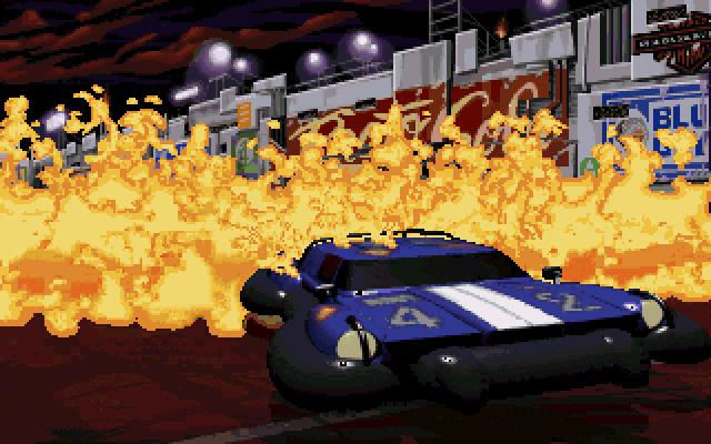 Full Throttle DOS The game also has some cool explosions!..