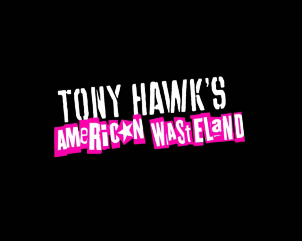 Tony Hawk's American Wasteland Windows Title screen