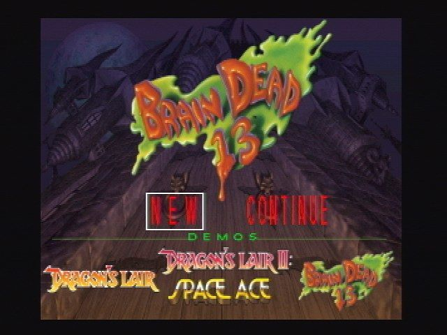 Brain Dead 13 Jaguar Title Screen