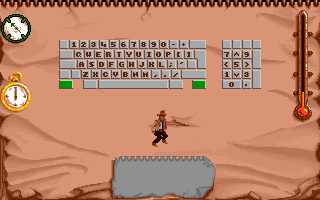 Indiana Jones and The Fate of Atlantis: The Action Game DOS Setting up the keyboard controls.