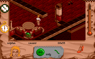 Indiana Jones and The Fate of Atlantis: The Action Game DOS Level 1 - Sophia