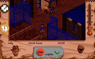 Indiana Jones and The Fate of Atlantis: The Action Game DOS Level 2 - the Nazi Naval base