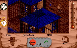 Indiana Jones and The Fate of Atlantis: The Action Game DOS Level 2 - look