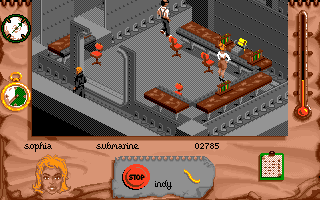 Indiana Jones and The Fate of Atlantis: The Action Game DOS Level 4 - secret lab