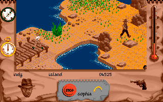 Indiana Jones and The Fate of Atlantis: The Action Game DOS Level 5 - the island