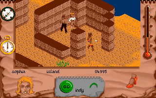 Indiana Jones and The Fate of Atlantis: The Action Game DOS Level 5 - In a hut.