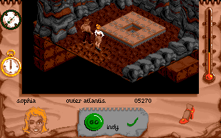 Indiana Jones and The Fate of Atlantis: The Action Game DOS Level 6 - Onto Atlantis!