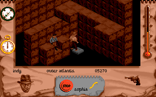 Indiana Jones and The Fate of Atlantis: The Action Game DOS Level 6 - going down?