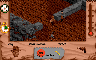 Indiana Jones and The Fate of Atlantis: The Action Game DOS Level 6 - Let's go!