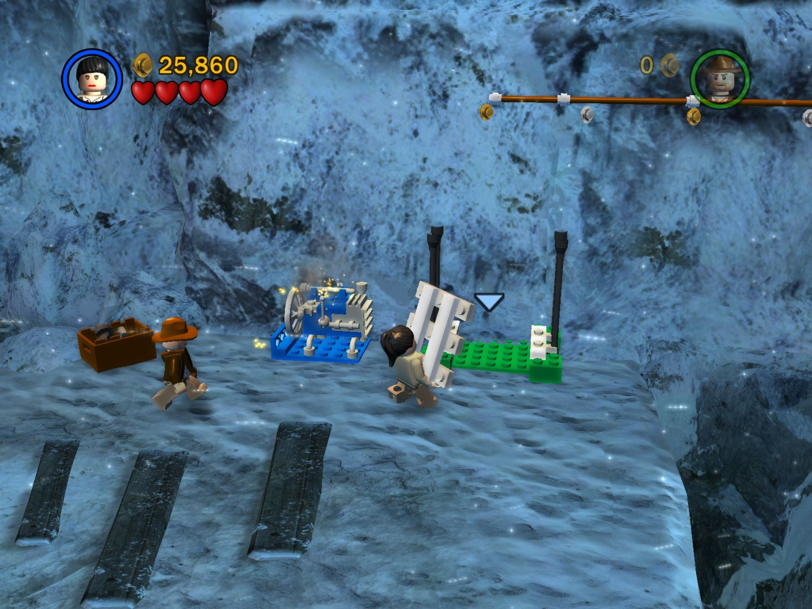 LEGO Indiana Jones: The Original Adventures Windows Moving and reparing things is an important part of the gameplay.