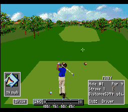 PGA European Tour SNES At the tee
