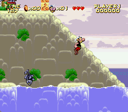 Astérix SNES At the sea