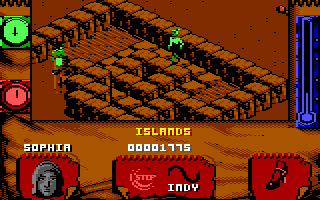 Indiana Jones and The Fate of Atlantis: The Action Game Commodore 64 Level 4 - I found the entrance to Atlantis!
