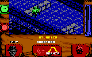 Indiana Jones and The Fate of Atlantis: The Action Game Commodore 64 Level 5 - Atlantis!