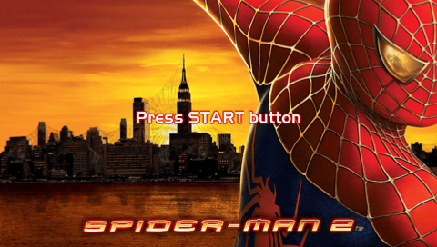Spider-Man 2 PSP Title screen