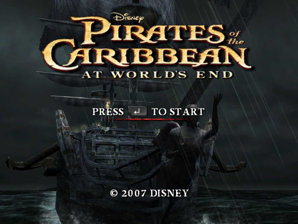 Disney Pirates of the Caribbean: At World's End Windows Title screen