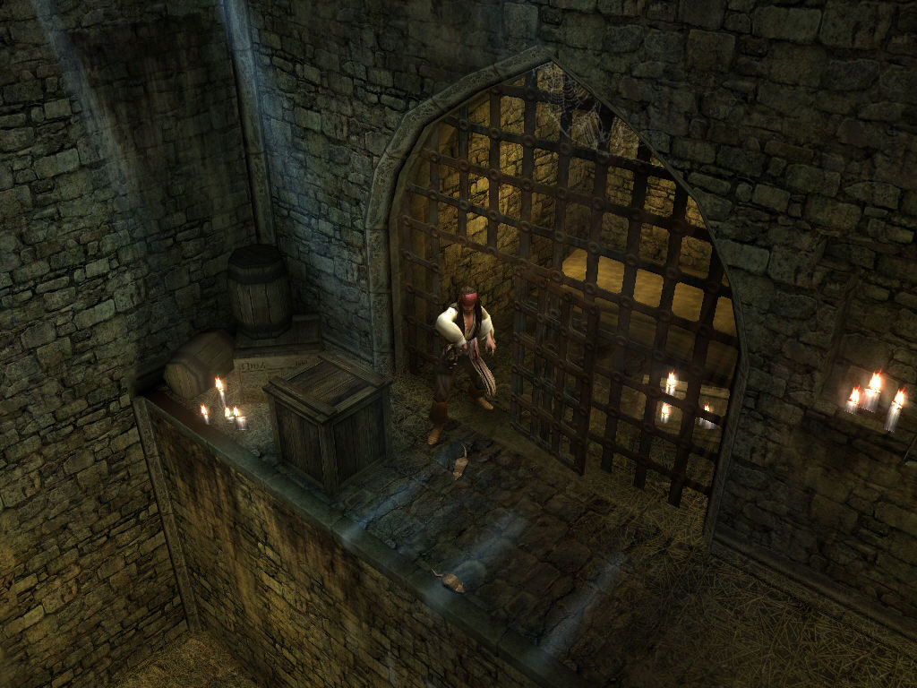 Disney Pirates of the Caribbean: At World's End Windows Jack Sparrow escapes from prison cell