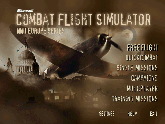 Microsoft Combat Flight Simulator: WWII Europe Series Windows Title screen