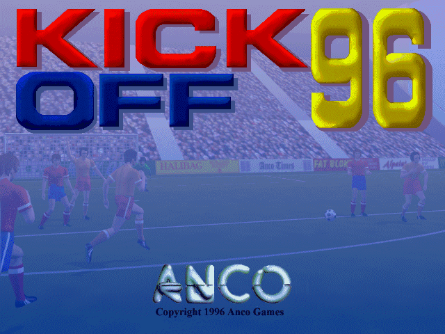 Kick Off 96 DOS Title screen