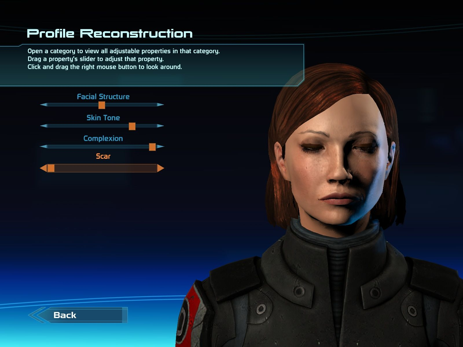 Mass Effect Windows Creating Shepard.