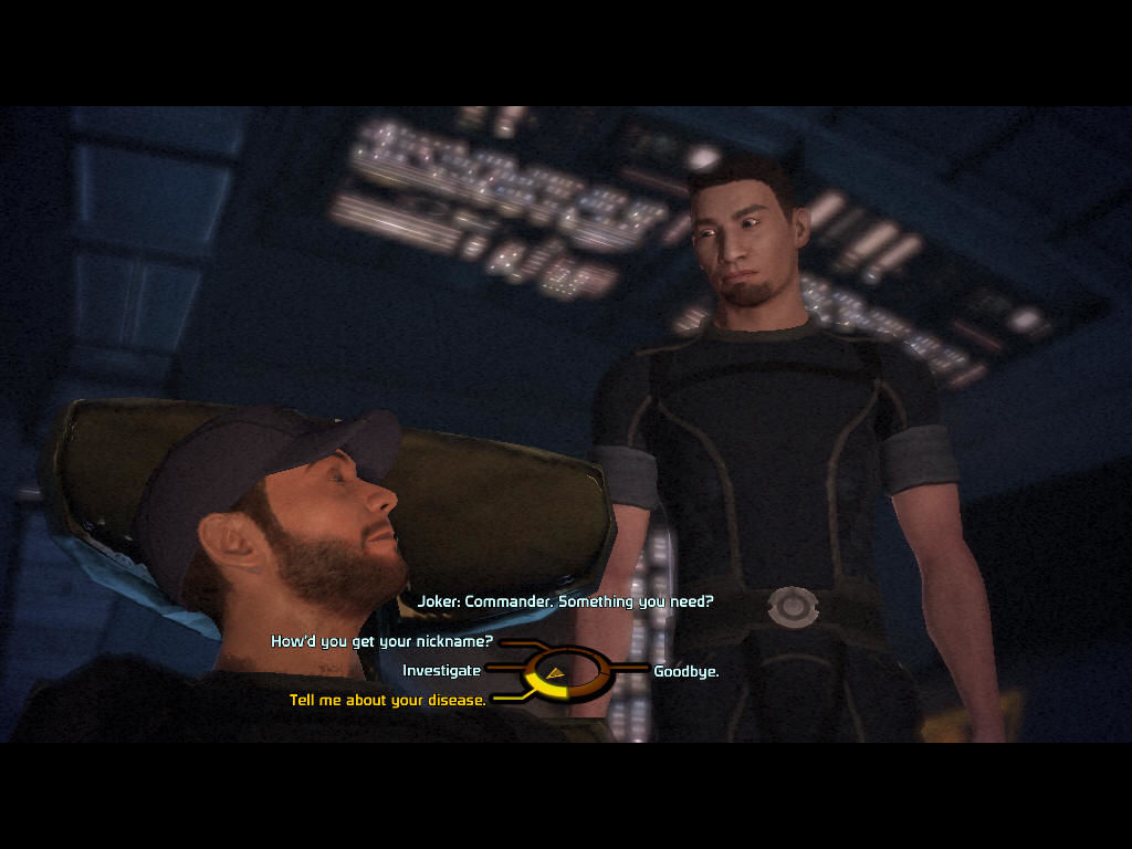 Mass Effect Windows Talking to Joker, the best pilot in the galaxy.