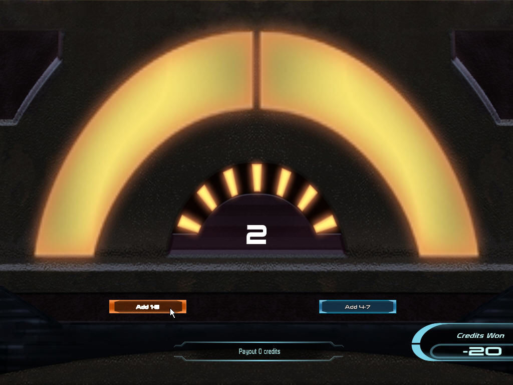 Mass Effect Windows At a casino, playing a game of quasar.