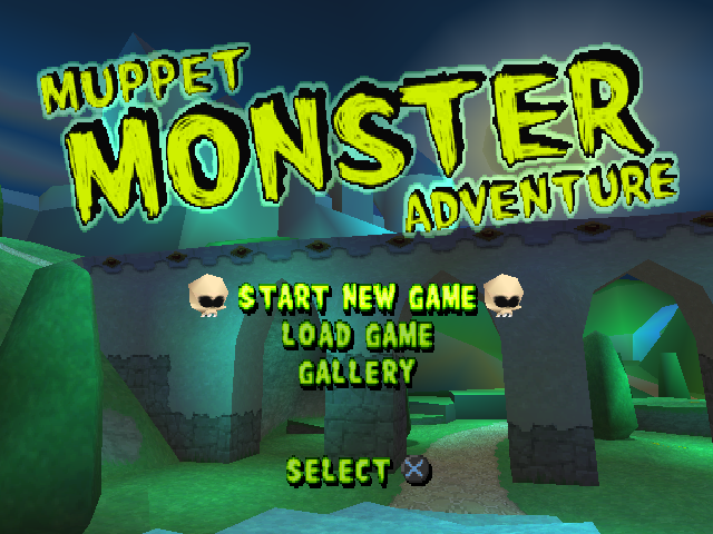 Muppet Monster Adventure PlayStation title screen