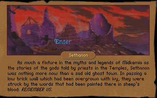 Betrayal at Krondor DOS Sethanon, a ghost city surrounded just literally with such beings.