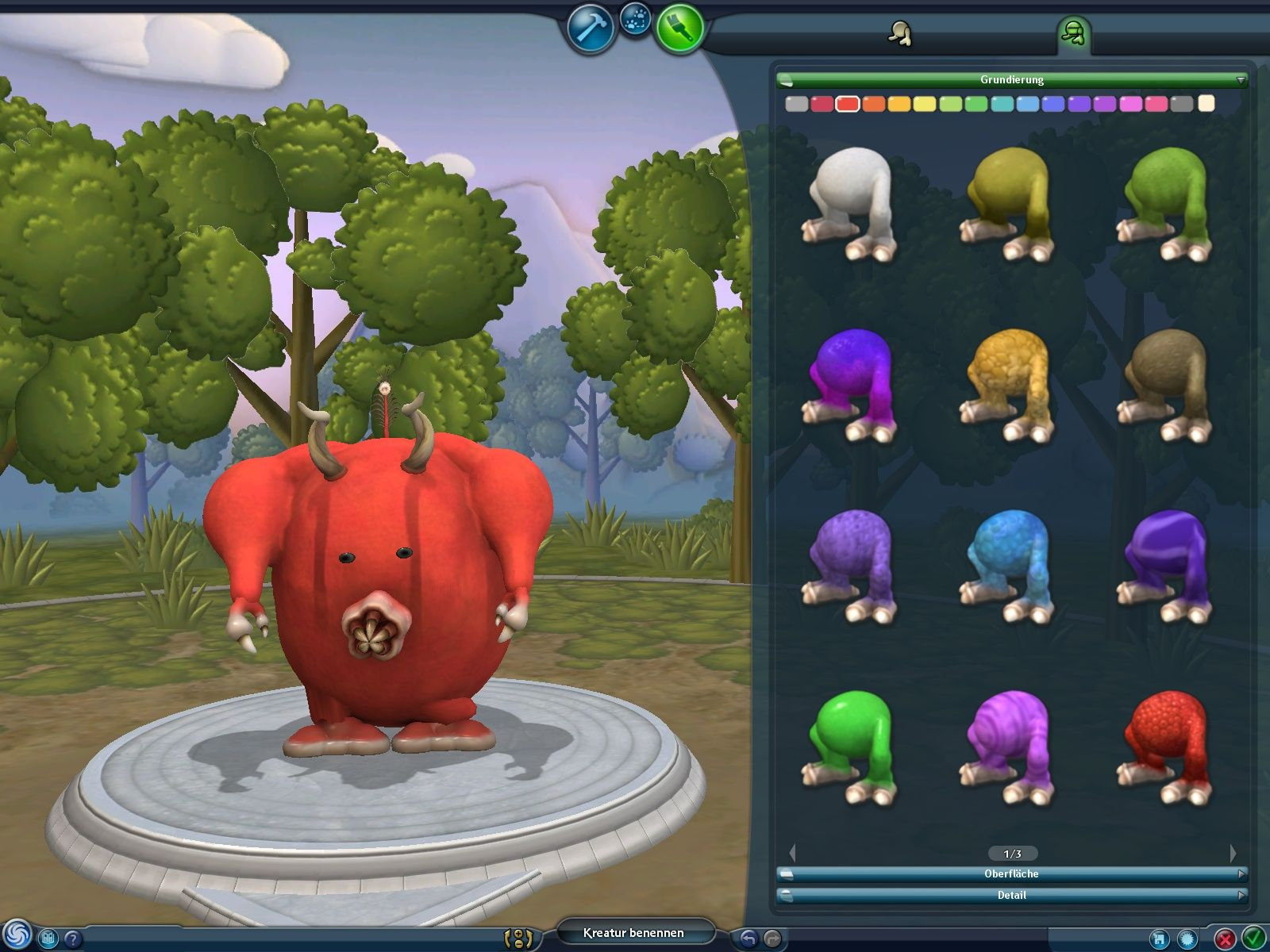 Spore Creature Creator Windows Painting the creature.