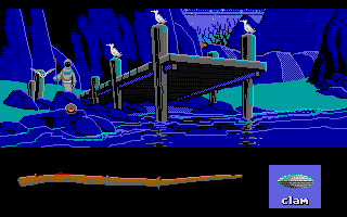Loom Atari ST The gulls appreciate the spell's opening effects on the clam.