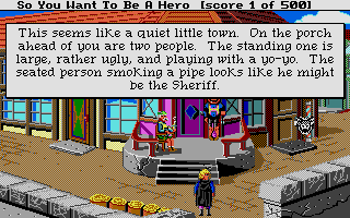 Hero's Quest: So You Want To Be A Hero Atari ST Starting location