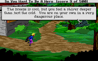 Hero's Quest: So You Want To Be A Hero Atari ST Outside the town