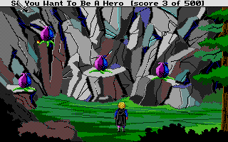 Hero's Quest: So You Want To Be A Hero Atari ST The seed-spitting Spirea spores!