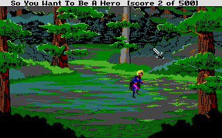 Hero's Quest: So You Want To Be A Hero Atari ST Sneaking through the woods