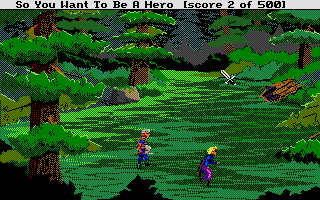 Hero's Quest: So You Want To Be A Hero Atari ST The sneaking didn't help me evade the attentions of a random encounter, a brigand plaguing the valley