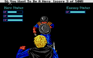 Hero's Quest: So You Want To Be A Hero Atari ST This brigand is about to run me through!