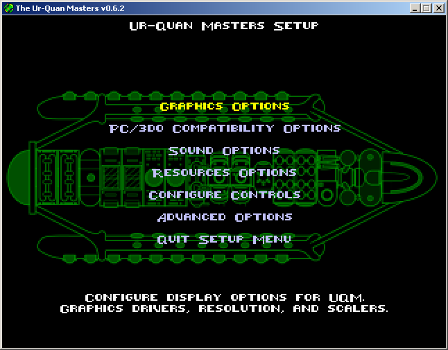 Star Control II Windows Options