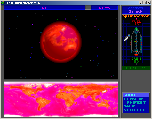 Star Control II Windows Earth really is stuck behind a slave shield!