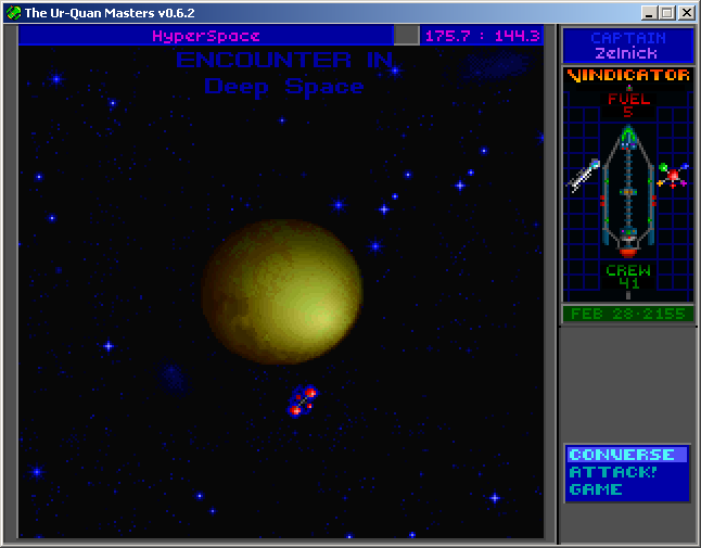 Star Control II Windows A common hyperspace inconvenience