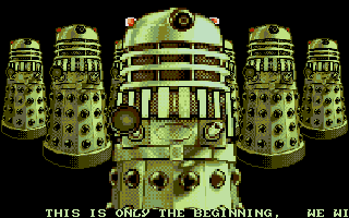 Dalek Attack Atari ST Menacing alien trashbins