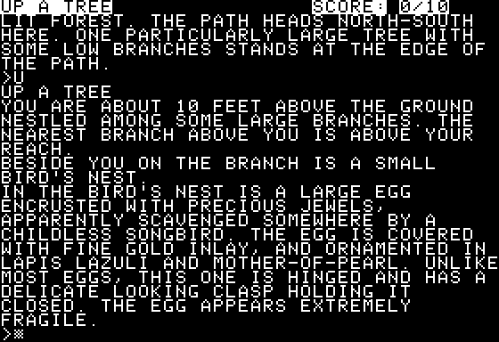 Zork: The Great Underground Empire Apple II I've found a priceless treasure!