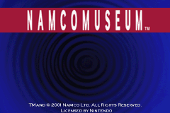 Namco Museum Game Boy Advance Title screen