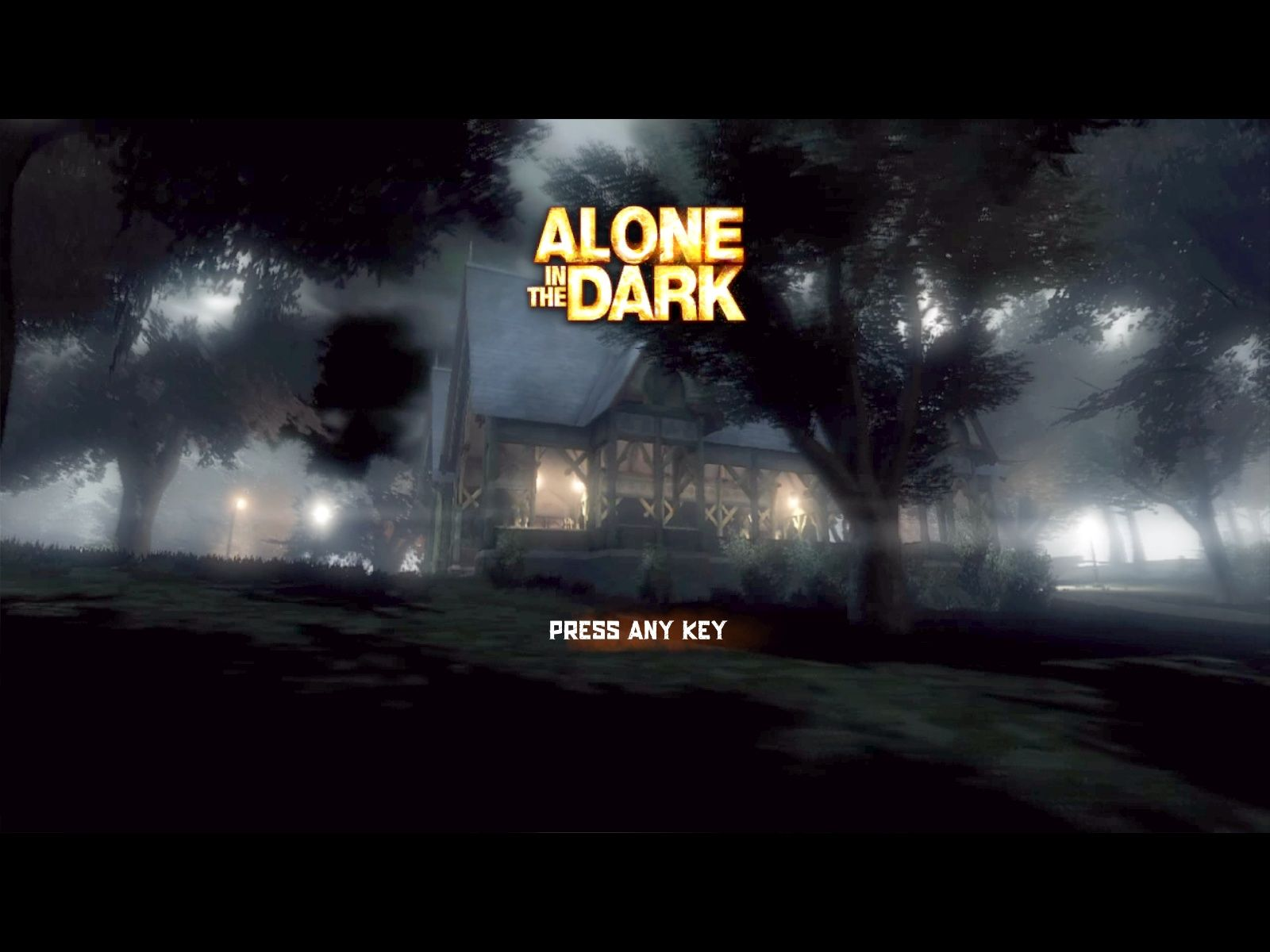 Alone in the Dark Windows Title screen