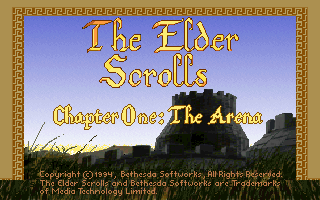 The Elder Scrolls: Arena DOS Title screen