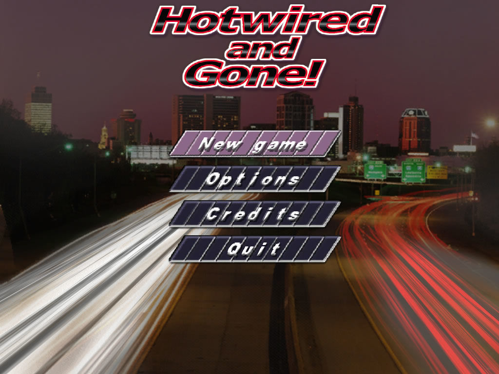 CarJacker: Hotwired and Gone! Windows Main game screen