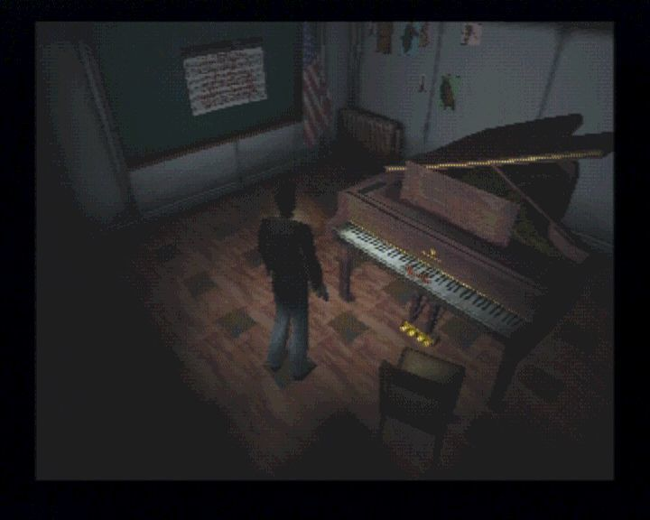 Silent Hill PlayStation Some puzzles will require a little more than just luck, for example the bird-piano puzzle.