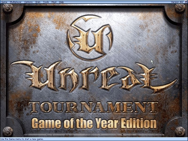 Unreal Tournament: Game of the Year Edition Windows Let's see, what's new with the GOTY edition (aside from the title screen)...