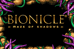 Bionicle: Maze of Shadows Game Boy Advance Title screen
