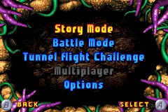 Bionicle: Maze of Shadows Game Boy Advance Main Menu